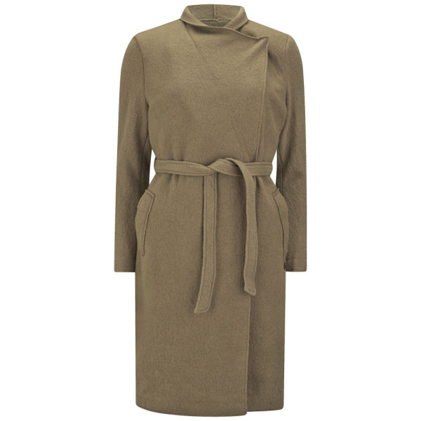 Maison Scotch Women's Wool Boucle Belted Coat - Camel