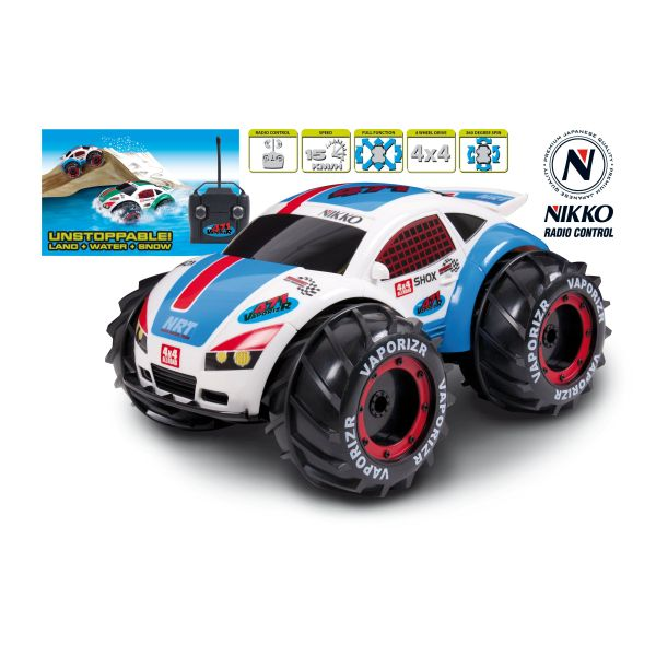 Nikko: VaporizR Amphibious Remote Control Car Toys | Zavvi on radio controlled cars for adults, musical toys for adults, playsets for adults, electric cars for adults, model cars for adults, bouncy castles for adults, mini cars for adults, toy cars for adults, small cars for adults, best rc cars for adults, space hoppers for adults, coffee mugs for adults, train sets for adults, rc vehicles for adults,