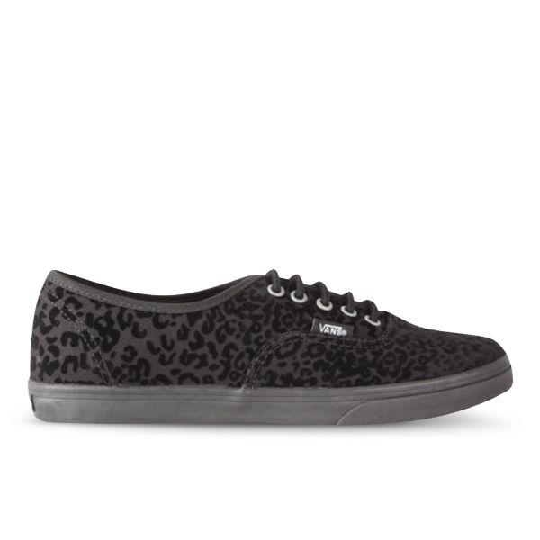 Vans Women\u0027s Authentic Lo Pro Cheetah Trainers - Black: Image 1