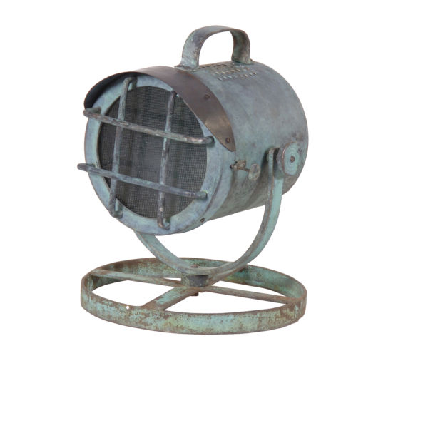 Aged Metal Search Light Lamp