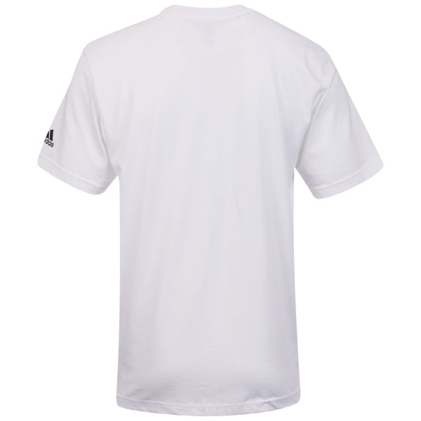 Adidas men 39 s 2 pack plain t shirts white sports for Plain t shirt pack