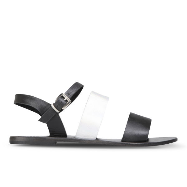 Sol Sana Women's January Leather Sandals - Black/Galaxy