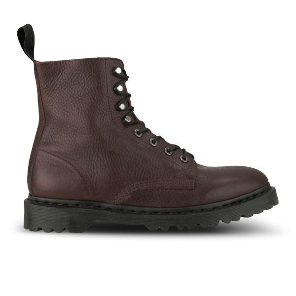Dr. Martens Unisex Core Hadley 8-Tie Leather Boots - Oxblood