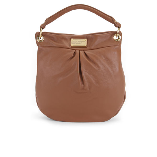 Marc by Marc Jacobs Hillier Leather Hobo Bag - Smoked Almond
