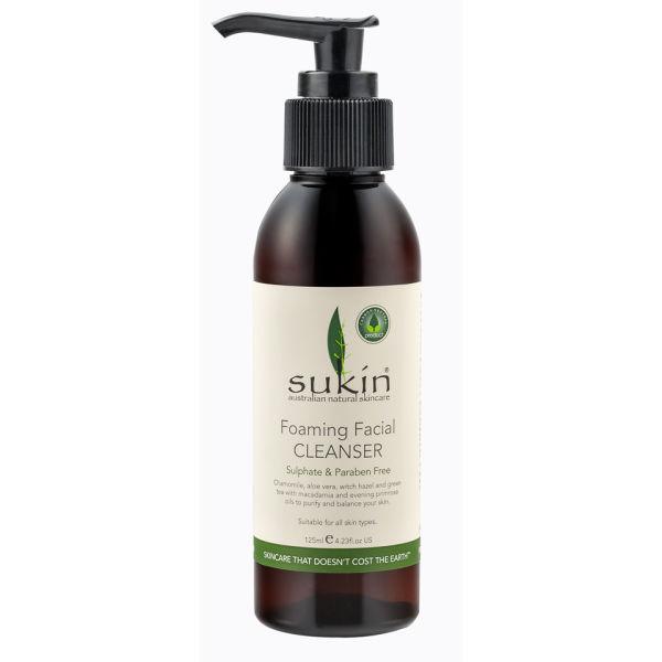 Soin nettoyant moussant pour le visage de Sukin(125ml)