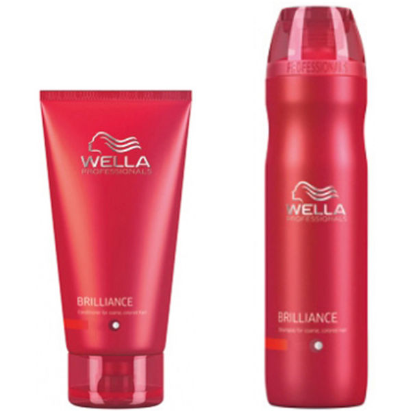 Wella Professionals Brilliance Duo for Coarse Coloured Hair- Shampoo & Conditioner