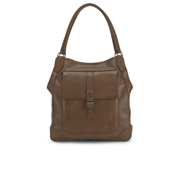 Knutsford Women's Soft Leather Shoulder Bag - Tan - Free UK ...
