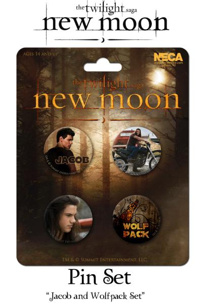 Twilight New Moon Pin Set Of 4 Jacob And Wolf Pack Set
