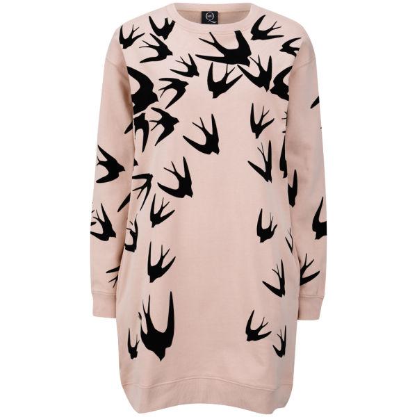 McQ Alexander McQueen Women's Classic Sweatshirt Dress - Tea Rose