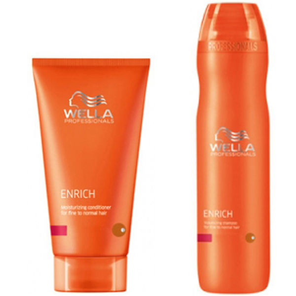 Wella professionals enrich volumising duo for fine to - Wella salon professional hair products ...