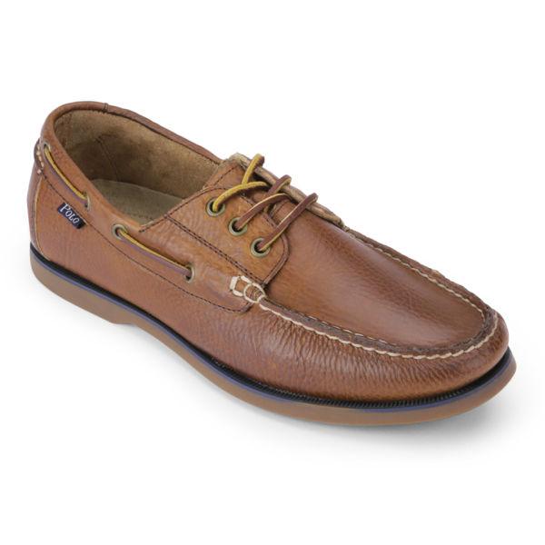 Polo Ralph Lauren Men\u0027s Bienne Leather Boat Shoes - Tan: Image 5