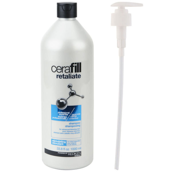 Redken Cerafill Retaliate Shampoo (1000ml) (with Pump) - (Worth £60.00)