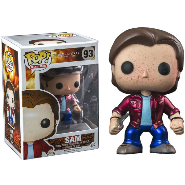 Supernatural Sam Metallic Blood Splatter Exclusive Pop! Vinyl Figure