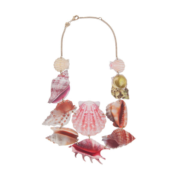 Tatty Devine Shell Grotto Statement Necklace - Pink