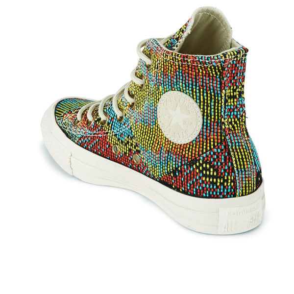 7dbbf717c357 Converse Women s Chuck Taylor All Star Woven Multi Panel Hi-Top Trainers -  Peacock