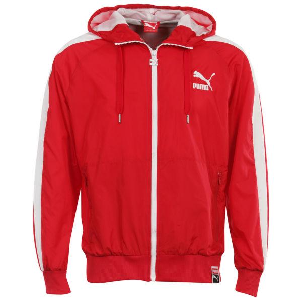 Puma T7 Windbreaker Jacket Red Sports Amp Leisure Thehut Com