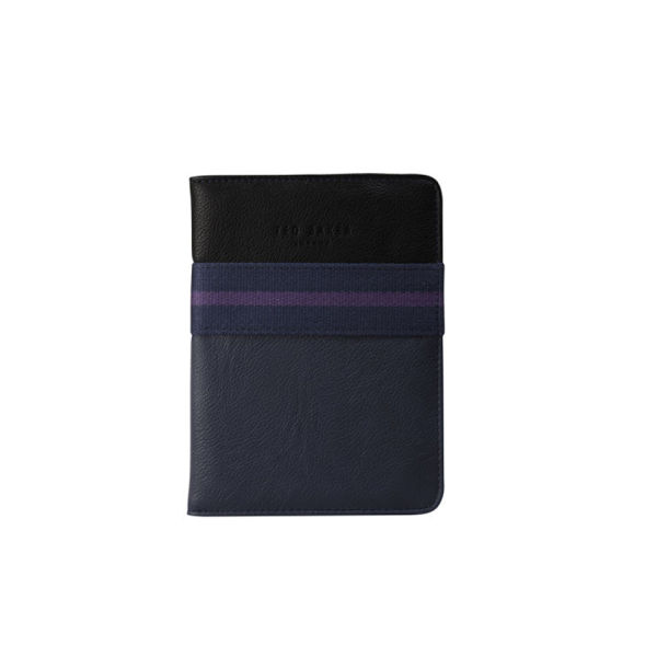 Ted Baker Chillz Inlay Stripe Digital Book Case - Black