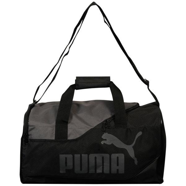 Puma Men's Fundamenals Sports Bag - Black/Dark Silver Mens ...