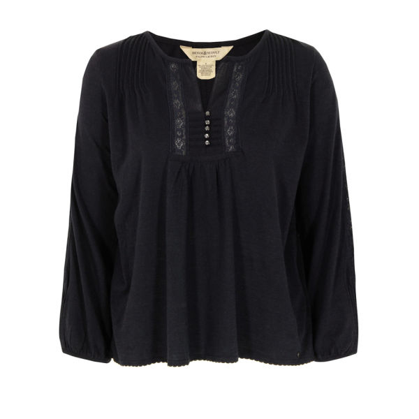 Denim & Supply - Ralph Lauren Women's Lace Bib Top - Navy