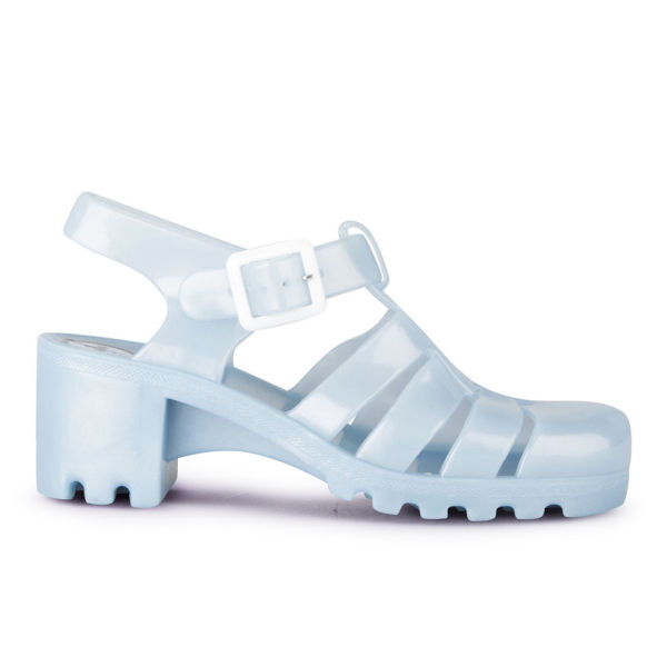 JuJu Women's Babe Heeled Jelly Sandals - Pearl Blue