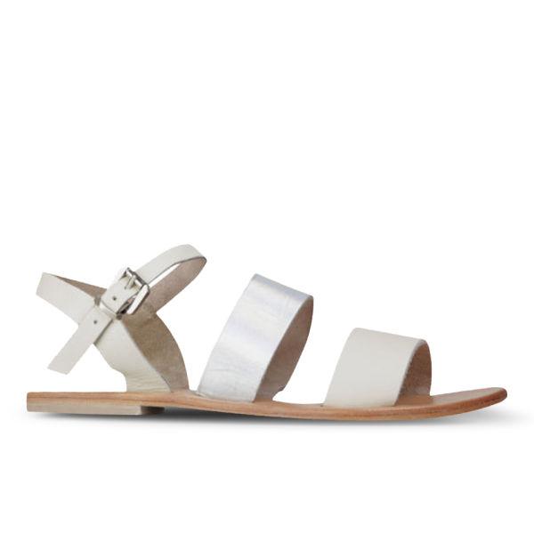 Sol Sana Women's January Leather Sandals - Bone/Galaxy
