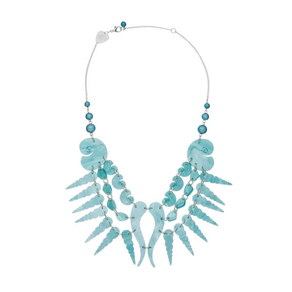Tatty Devine Sea Shell Swirl Necklace - Aqua