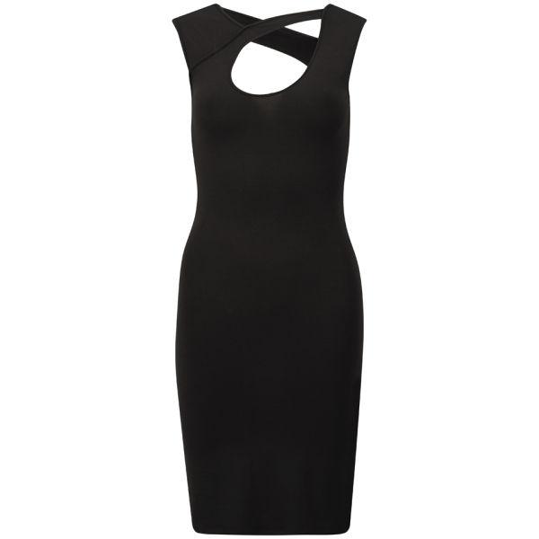 McQ Alexander McQueen Women's Bodycon Stripe Dress - Velvet Black