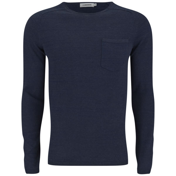 J.Lindeberg Men's Anders Shiny Knitted Jumper - Indigo