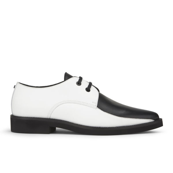 McQ Alexander McQueen Women's Kim Printed Leather Derby Shoes - Black/White