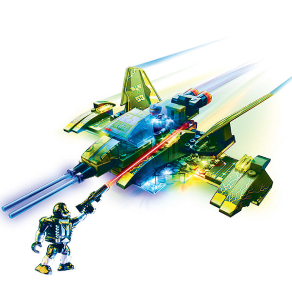 Lite Wars Sgt. Scorcher's Jet Vs Fire Phantomo