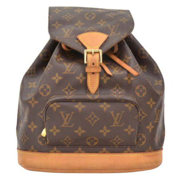 louis vuitton vintage brown monogram canvas backpack womens accessories