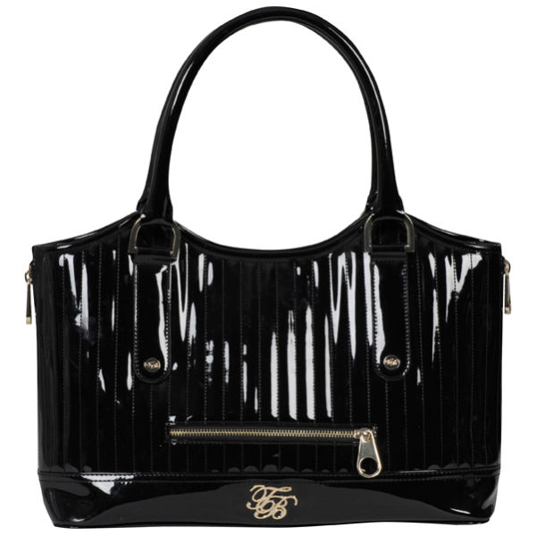 Ted Baker Turaco Tb Pvc Quilted Tote Bag Black