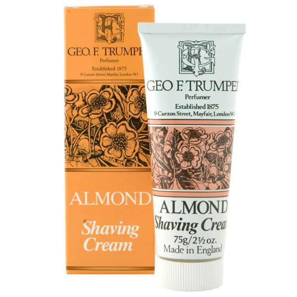 Trumpers Almond Oil Soft Shaving Cream - 75 g Tube