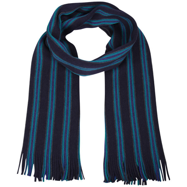 Ted Baker Murphys Vertical Multi Stripe Scarf - Blue
