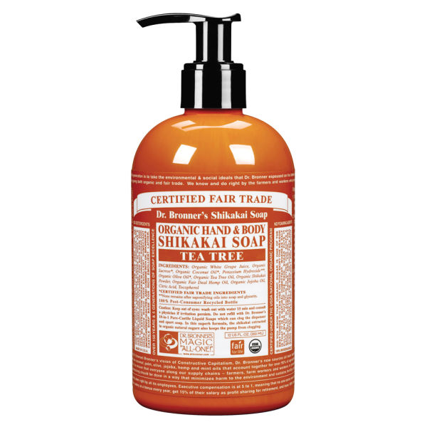 Savon Mains Shikakai Biologique au Tea Tree Dr. Bronner (355ml)