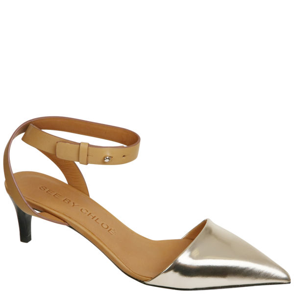 See By Chloé Women's Metallic Heels - Gold