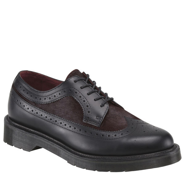 Dr. Martens Womens Nash Brogue Shoes - Oxblood/Black