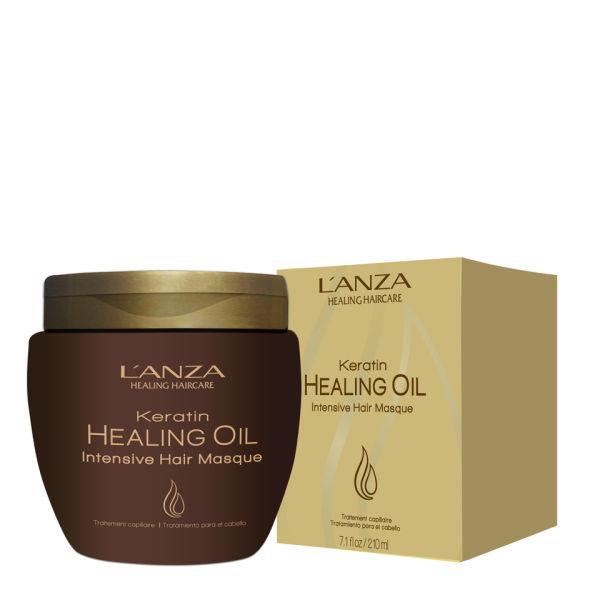 Masque capillaire intense à l'huile réparatrice de kératine de L'Anza.