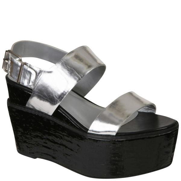Senso Women's Jordan Platform Sandals - Laser Silver