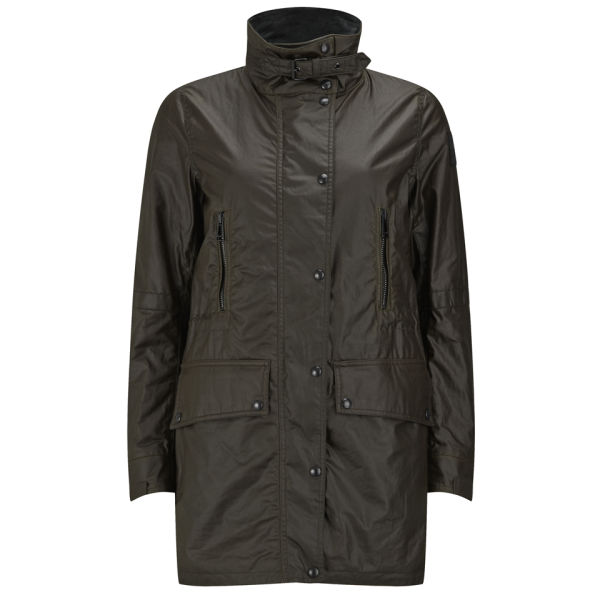 Belstaff Women's CT Master Waxed Parka - Faded Olive