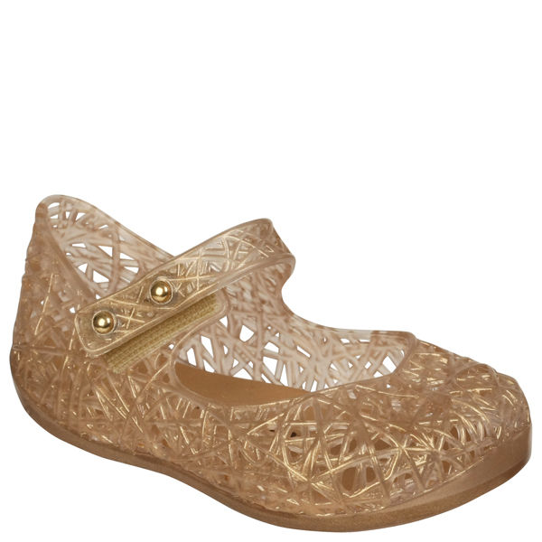 Melissa Toddlers' Mini Campana Zig Zag Pumps - Soft Gold