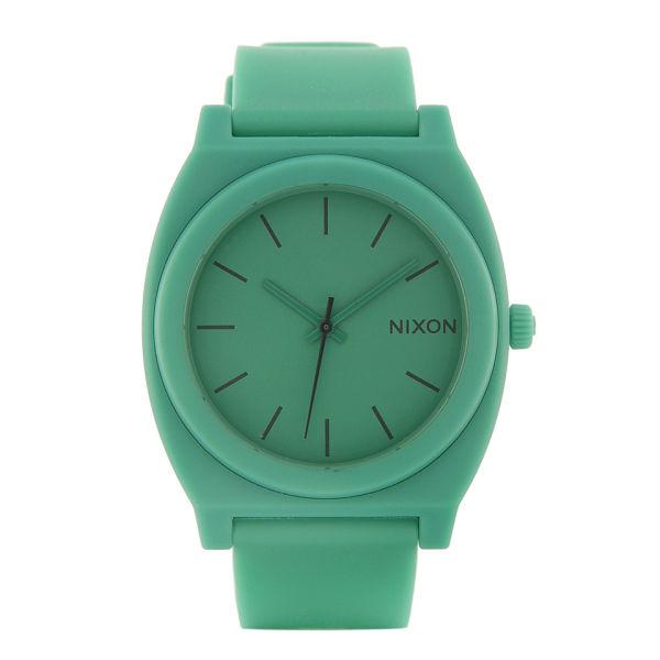 nixon men s the time teller p mint watch matte green uk nixon men s the time teller p mint watch matte green image 1