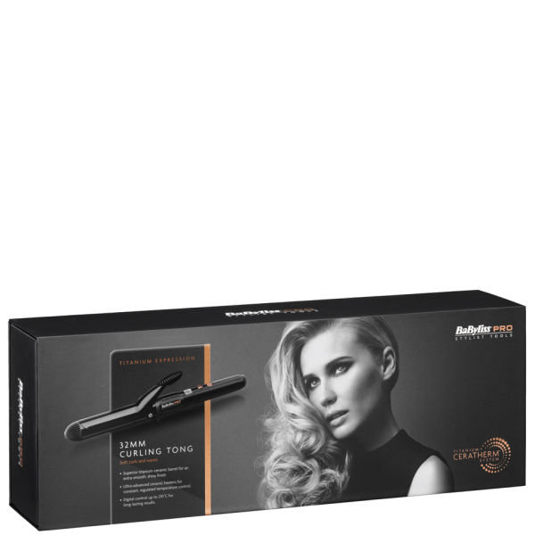 BaByliss PRO Titanium Expression Curling Tong (32 mm)
