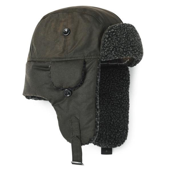 04e8002b7e857 Barbour Fleece Lined Trapper Hat - Olive  Image 2