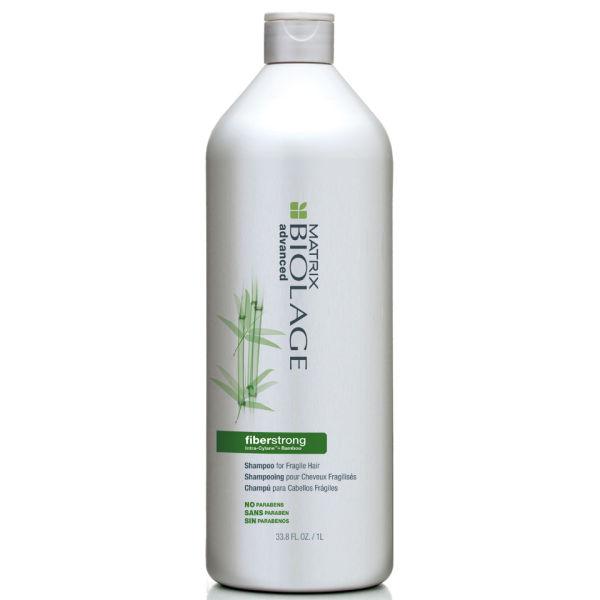 Matrix Biolage advanced Fiberstrong Shampoing pour cheveux fragilisés (1000ml) et Pompe.