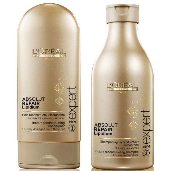 L'Oreal Professionnel Absolut Repair Lipidium Shampoo (250ml) & Conditioner (150ml) (Bundle)