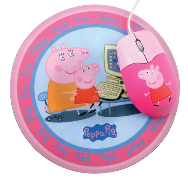 Peppa Pig Optical Mouse And Mouse Mat Set Iwoot