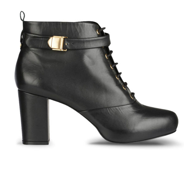 Kat Maconie Women's Katya Lace Up Heeled Ankle Boots - Black