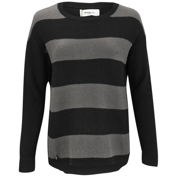 Vero Moda Women's Micki Stripe Jumper -  Black