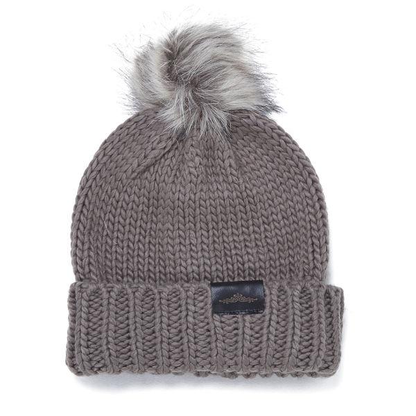 c609c8438ad46 Urbancode Faux Fur Pom Pom Beanie Hat - Taupe  Image 1